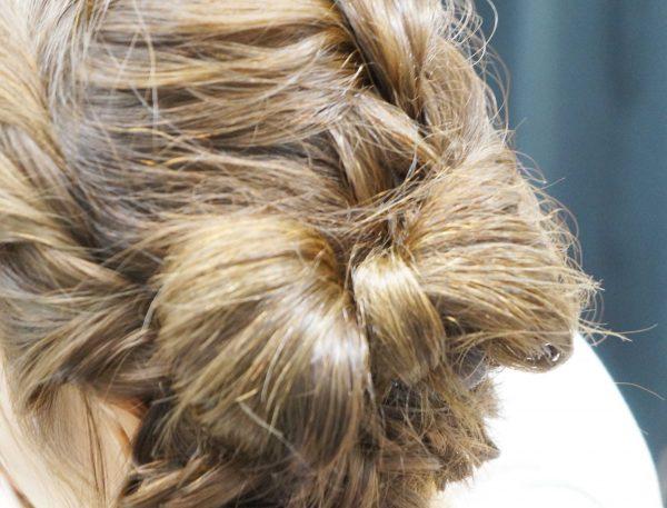 自分の髪で作るリボンヘアアレンジ♪