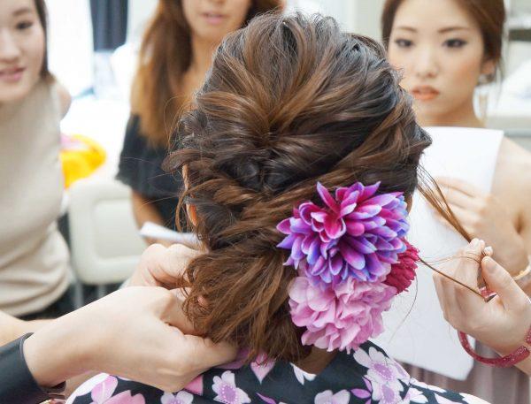 紫陽花ヘア